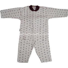 Sebi Bebe 51049 Pijama Takımı Gül Baskılı Mürdüm 3-6 Ay (62-68 Cm) Kız Bebek Pijaması