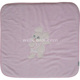 Bebitof 5105 Bebek Havlu Battaniye Tavşanlı Pembe Yorgan