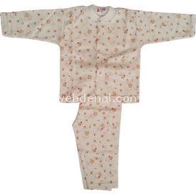 Sebi Bebe 51206 Bebek Pijaması Tavşanlı Kahverengi 6-9 Ay (68-74 Cm) Kız Bebek Pijaması