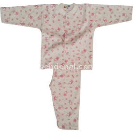 Sebi Bebe 51206 Bebek Pijaması Tavşanlı Pembe 9-12 Ay (74-80 Cm) Kız Bebek Pijaması