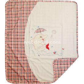 Sebi Bebe 52024 Bebek Penye Battaniye Yunuslu Kırmızı Bebek Battaniyesi