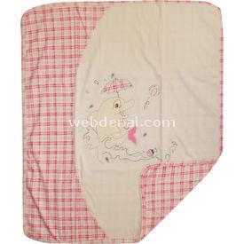 Sebi Bebe 52024 Bebek Penye Battaniye Yunuslu Pembe Bebek Battaniyesi