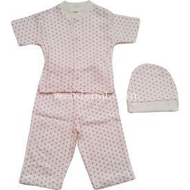 Sebi Bebe 52091 3lü Bebek Pijama Takımı Pembe 0-3 Ay (56-62 Cm) Kız Bebek Pijaması