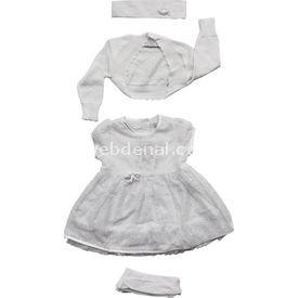 Aziz Bebe 007025 Bebek Mevlütlük Beyaz 3-6 Ay (62-68 Cm) Kız Bebek Hastane Çıkışı