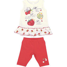 Bebepan 8021 Bluz Tayt Takım 6-9 Ay (68-74 Cm) Kız Bebek Takım
