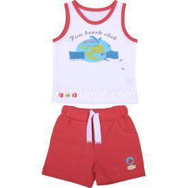 bebepan-8046-fish-atlet-sort-takim-kirmizi-18-24-ay-86-92-cm-
