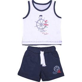 Bebepan 8087 Regatta Penye Atlet Şort Takım Lacivert 9-12 Ay (74-80 Cm) Erkek Bebek Takım