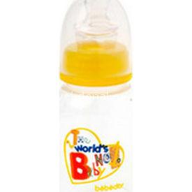 Bebedor 93352 Oval Biberon Damaklı Emzik Orta Akış 125 Ml Sarı Bebek Besleme