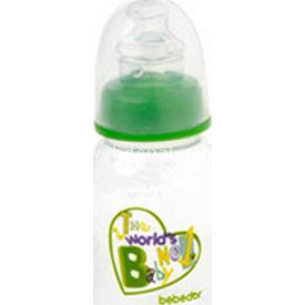 Bebedor 93352 Oval Biberon Damaklı Emzik Orta Akış 125 Ml Yeşil Bebek Besleme