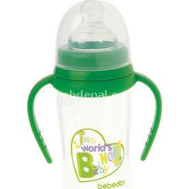 Bebedor 97362 Oval Geniş Ağız Biberon Damaklı Emzik Orta Akış 250 Ml Yeşil Bebek Besleme