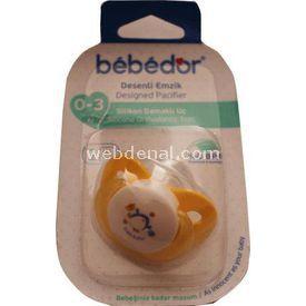 Bebedor Desenli Emzik Damaklı Uç Sarı Bebek Besleme