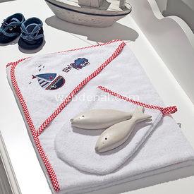 Funna Baby Marine 3824 Havlu Kese Bornoz