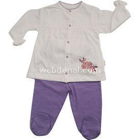 Bebetto F703nc Mini Bebek Pijama Takımı Lila 9-12 Ay (74-80 Cm) Kız Bebek Pijaması
