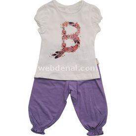 Bebetto F705 Kız Bebek 2li Takım Lila 12-18 Ay (80-86 Cm) Kız Bebek Takım