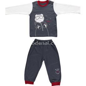 Bebetto F724 Memory Pijama Takımı Antrasit 3 Yaş (98 Cm) Erkek Bebek Takım