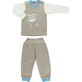 bebetto-f724-memory-pijama-takimi-kahverengi-6-9-ay-68-74-cm-