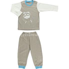 bebetto-f724-memory-pijama-takimi-kahverengi-3-yas-98-cm-