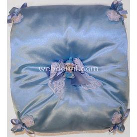 Handan Bebek Altın Takı Yastığı Mavi Kare Yastıklar