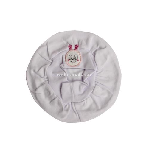 Minidamla Mini Damla 4001 Bebek Beresi Beyaz-pembe Şapka, Bere, Kulaklık