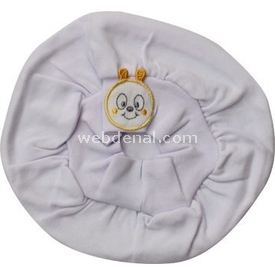Minidamla Mini Damla 4001 Bebek Beresi Beyaz-sarı Şapka, Bere, Kulaklık