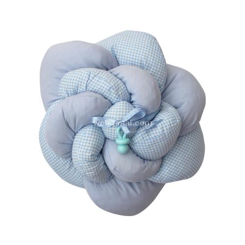 Handan Takı Yastığı Gül Mavi Dekoratif Süs