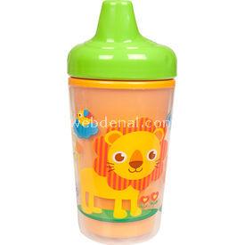 Bebedor 9503 Zoo Baskılı Yalıtımlı Sert Uçlu Alıştırma Bardağı Turuncu Bebek Besleme