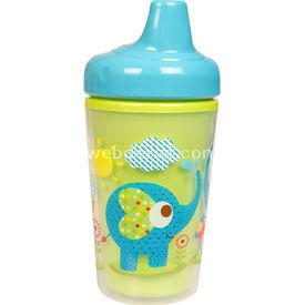 Bebedor 9503 Zoo Baskılı Yalıtımlı Sert Uçlu Alıştırma Bardağı Yeşil Bebek Besleme
