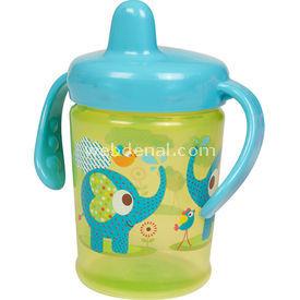 Bebedor 9508 Zoo Sert Uçlu Kulplu Alıştırma Bardağı Yeşil Bebek Besleme