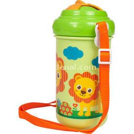 Bebedor 9507 Zoo Baskılı Pipetli Askılı Alıştırma Bardağı Yeşil Bebek Besleme