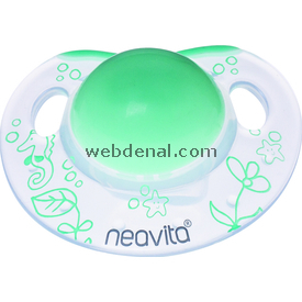 Neavita 15042 Ortodontik Gece Emziği Desenli 3ay+ Açık Yeşil Emzik