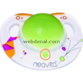 Neavita 15042 Ortodontik Gece Emziği Desenli 3ay+ Koyu Yeşil Bebek Besleme