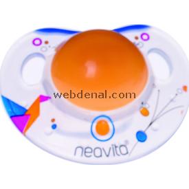 Neavita 15042 Ortodontik Gece Emziği Desenli 3ay+ Turuncu Emzik