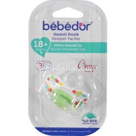 Bebedor 133 Silikon Emzik Damaklı Uç No:3 +6 Ay Yeşil Bebek Besleme