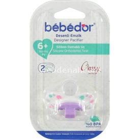 Bebedor 132 Silikon Emzik Damaklı Uç No:2 +3 Ay Mor Bebek Besleme