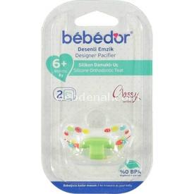Bebedor 132 Silikon Emzik Damaklı Uç No:2 +3 Ay Yeşil Bebek Besleme