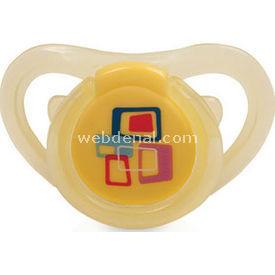 Bebedor 183 Air Series Damaklı Desenli Emzik No:3 Sarı Bebek Besleme