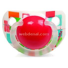 Bebedor 163 Art Desenli Silikon Damaklı Emzik No:3 12m+ Kırmızı Bebek Besleme