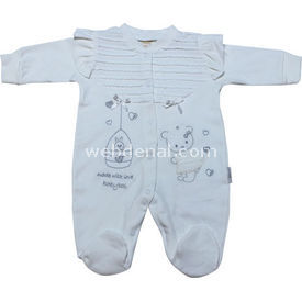 Babybal 423  Made With Love Krem 0-3 Ay (56-62 Cm) Bebek Tulumu