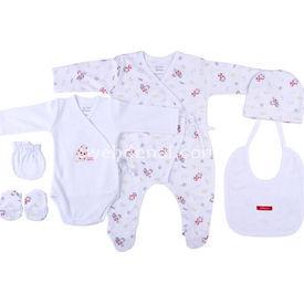 Chicco 77273 Hastane Çıkış Seti 6 Lı Beyaz-desenli 0 Ay (50-56 Cm) Erkek Bebek Hastane Çıkışı