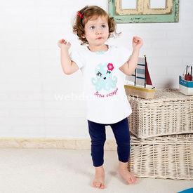 Wonder Kids Wk14s304 Marine 2li Takım Lacivert-beyaz 3-6 Ay (62-68 Cm) Kız Bebek Takım