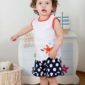 Wonder Kids Wk14s307 Marine 2li Set Lacivert 9-12 Ay (74-80 Cm) Kız Bebek Takım