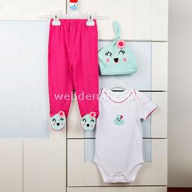 Wonder Kids Wk14s311 Marine 3lü Takım Pembe 6-9 Ay (68-74 Cm) Kız Bebek Takım