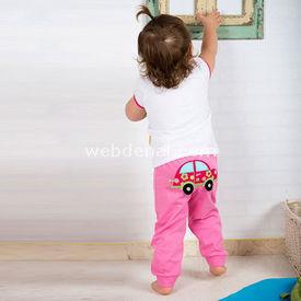 Wonder Kids Kız Bebek 2li Takım Camp Pembe 3-6 Ay (62-68 Cm) Kız Bebek Takım