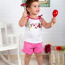 Wonder Kids Wk14s319 Camp 2li Takım 3-6 Ay (62-68 Cm) Kız Bebek Takım