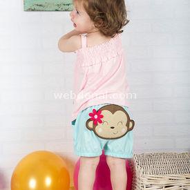 Wonder Kids Şort - Askılı Body 2li Bebek Takım Carnaval 3-6 Ay (62-68 Cm) Kız Bebek Takım