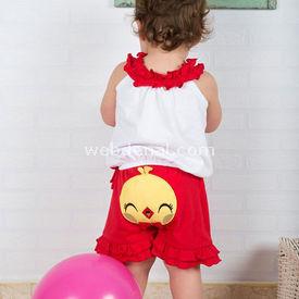 Wonder Kids Wk14s329 Carnaval 2li Takım Kırmızı 18-24 Ay (86-92 Cm) Kız Bebek Takım