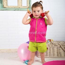 Wonder Kids Şort 2li Takım Natural Life Pembe-yeşil 3-6 Ay (62-68 Cm) Kız Bebek Takım