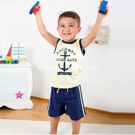 Wonder Kids Wk14s407 Marine 2li Takım 3-6 Ay (62-68 Cm) Erkek Bebek Takım
