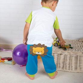 Wonder Kids Wk14s429 Carnaval 2li Takım Mavi 2 Yaş (92 Cm) Erkek Bebek Takım