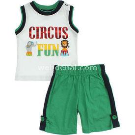 Wonder Kids Şort Atlet Carnaval 2li Takım Yeşil 12-18 Ay (80-86 Cm) Erkek Bebek Takım